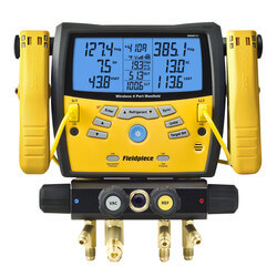 SMAN440, 4 Port Wireless Digital Manifold w/ Pipe Clamps and Padded Case Product Image