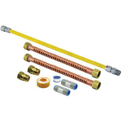 Sp20010 rheem sp20010 15 gas water heater connection kit for Connecting pex to water heater