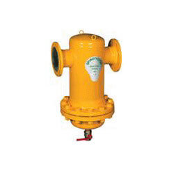 "6"" Spirotrap Drain Steel Dirt Separators with removable head (Flanged) Product Image"