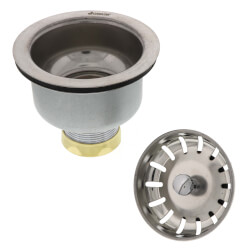 BS-313B, Brushed Stainless Steel Snap-N-Loc Strainer