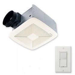 """SSQTXE080 SmartSense Vent Fan w/ Control<br>6"""" Duct, 80 CFM Product Image"""