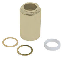 Mixet Retainer Nut Valve Repair for Single Handle Faucets (Polished Brass) Product Image