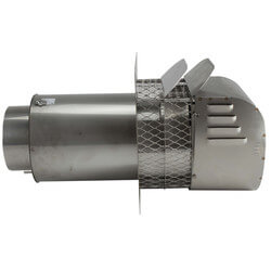 "6"" Stainless Steel Power Venter (416,000 BTU) Product Image"
