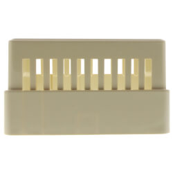 Beige Thermostat Cover Plate Assembly, with Thermometer Window (Horizontal Mount)