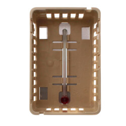 Beige Thermostat Cover Plate Assembly, Exposed setpoint, with °F/°C thermometer (Vertical Mount)