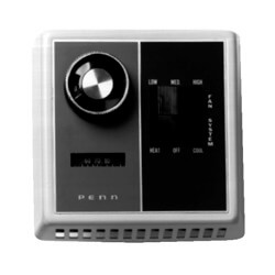 Fan Coil Thermostat<br>Heat-Off-Cool Sys. Switch<br>(50°F to 90°F) Product Image