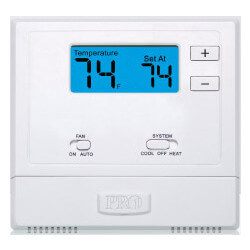T601-2 Non-Programmable Thermostat w/ 2 sq. in Display (1H/1C) Product Image