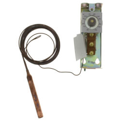 Remote bulb Commercial Temperature Controller, 55 F to 175 F, 20 ft. capillary, Copper bulb sensing element