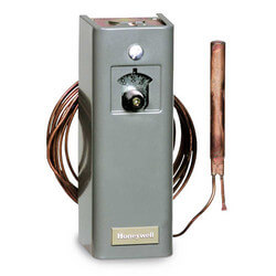 Remote bulb Commercial Temperature Controller, 55 F to 175 F, 5 ft. capillary, Fast response capillary sensing element