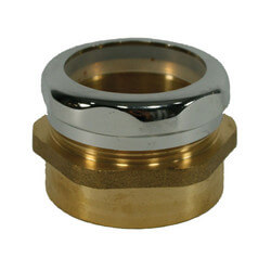 "1-1/2"" MIP x 1-1/2"" OD Waste Connector<br>w/ Poly Washer Product Image"