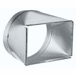 "Model T81212 8"" x 12"" to 12"" Round Duct Transition Product Image"