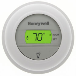 Round Non-Programmable, Heat Only, Digital Thermostat