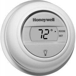Round Non-Programmable, Heat Only Digital Thermostat Product Image