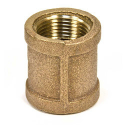 "1/4"" FIP Brass Coupling (Lead Free) Product Image"