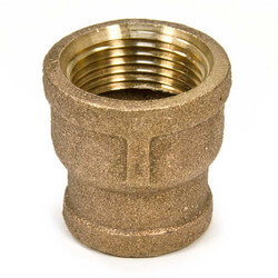 "1"" x 3/4"" FIP Brass Coupling (Lead Free) Product Image"