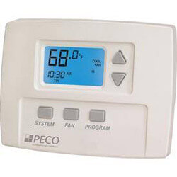 7-Day Programmable, 1 Heat/1 Cool, 3 Speed Staged Fan Thermostat Product Image