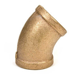 "1"" FIP x FIP 45° Brass Elbow"