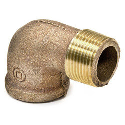 "2-1/2"" Brass 90 Deg Street Elbow (Threaded)"