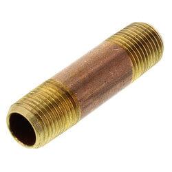 """1/8"""" x 1-1/2"""" Brass Nipple"""