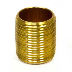"1/4"" x Close Brass Nipple"