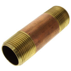 """3/4""""x 3"""" Brass Nipple"""
