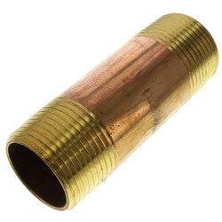 """1""""x 3-1/2"""" Brass Nipple"""