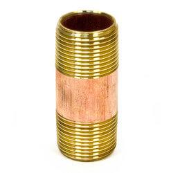 """1-1/4""""x 2-1/2"""" Brass Nipple"""