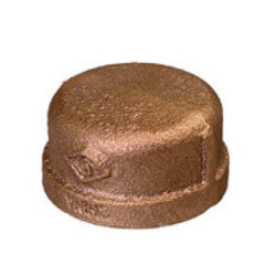 "1/2"" Threaded Brass Cap (Lead Free) Product Image"