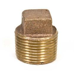 "1/2"" Brass Sq Head Plug (Lead Free) Product Image"