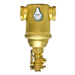 "3/4"" Spirotrap Drain Brass Dirt Separators with removable head (Female Thread)"
