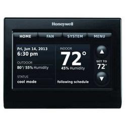 thx9421r5021bb honeywell thx9421r5021bb prestige iaq hd thermostat black front black side