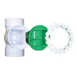 "TESTRITE 4"" Tee & Clean Out Plug for PVC Pipe"