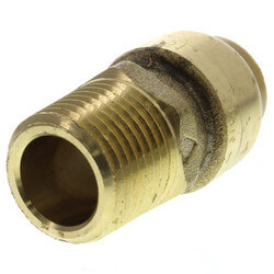 "1/2"" x 1/2"" Sharkbite Pipe to Male Pipe Thread Connector (Lead Free)"