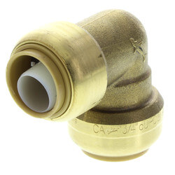 """3/4"""" x 1/2"""" Sharkbite Reducing Elbow<br>(Lead Free) Product Image"""
