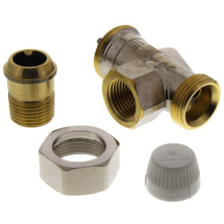 "1/2"" Horizontal Angle Threaded Radiator Valve"