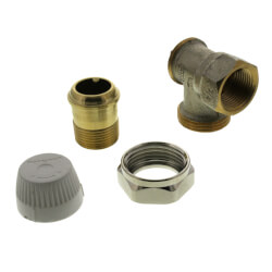 "3/4"" Vertical Angle Valve For Standard Capacity Radiator"