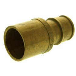 "ProPEX Red Brass<br>Copper Pipe Adapter<br>1/2"" PEX x 1/2"" Copper Product Image"
