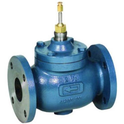"2-1/2"" Two-way Flanged Globe Valve, Water or Glycol (63 Cv)"