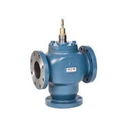 "5"" Three-Way Flanged Globe Mixing Valve (250 Cv)"