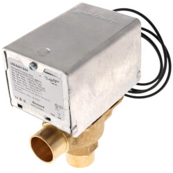 "3/4"" Sweat 3-Way Zone Valve, port A N/C (24V) Product Image"