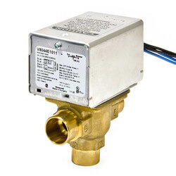 "3/4"" Sweat Connection 3 Way Zone Valve, port A normally closed, w/ end switch (24v)"