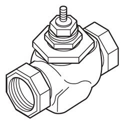 "1/2"" NPT Two-Way Valve (1.3 cv) Product Image"