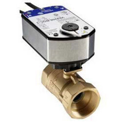 "2"" NPT 2-Way Brass Valve w/ VA9208 24V On/Off Product Image"