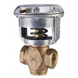 """1/2"""" NPT Normally Open 2-Way Globe Valve w/ Positioner, 4 to 8 psig Product Image"""