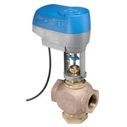"2-Way Normally Open 1/2"" VG7000 Series Brass Trim Globe Valve w/ V3000 Pneumatic Actuator"