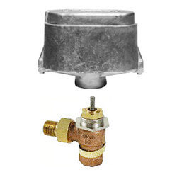 "1/2"" Normally Open Union Angle Valve, 3-7 PSI (5 cv) Product Image"