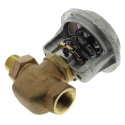 "1-1/4"" Unit Vent Valve, Right Angle Body (16 Cv)"