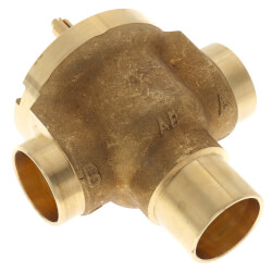 "Three-Way Fan Coil Valve, 3/4"" (Sweat), 7.0 Cv"