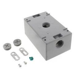 "Single Gang 1/2"" 3 Holes Weather Proof Box (Grey) Product Image"