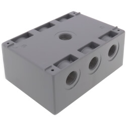 """Triple Gang 1/2"""" 7 Holes Weather Proof Box (Grey) Product Image"""